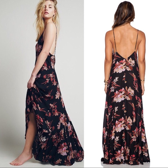 Free People Dresses & Skirts - FREE PEOPLE | star chasing slip floral maxi dress
